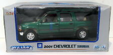 Welly 1/24 Scale Diecast 2090W - 2001 Chevrolet Suburban - Green