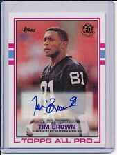 2015 Topps 60th Anniversary TIM BROWN RC Reprint Retired Auto Rookie  H.O.F