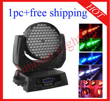 1pc 108*3W RGBW Led Moving Head Light Led Wash DJ Stage Lighting Free Shipping