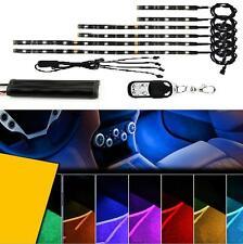 6PC RGB LED Car Motorcycle Chopper Frame Glow Lights Flexible Neon Strips Kit