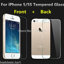 Front & Back Tempered Glass Screen Guard Protector for Apple iPhone 5 / 5S