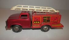 MF 163 China Ford Fire Engine Ladder Truck Tin Friction Toy (1980s)