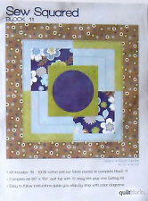 "JO-ANN QUILT BLOCK OF THE MONTH ""SEW SQUARED"" BLOCK #11 CIRCLE IN A SQUARE VAR."