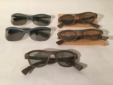 Lot Of 5 Vintage 1950s Polaroid 3-D Glasses Polarized Viewer Models 712 & 717