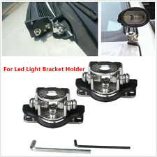 2pcs Car Stainless Stee Mount Bracket Holder For Offroad Led Working Light Bar