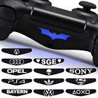 6x Aufkleber PS4 Lightbar schwarz Sticker Decal Controller Motiv
