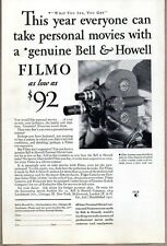1931 Print Ad Bell & Howell Filmo 16 MM Personal Movie Cameras