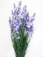 2 x Artificial Silk Latex Mini Flower Lavender Spray 40cm