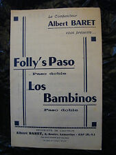 Partition Folly's Paso Los Bambinos Albert Baret Paso Doble