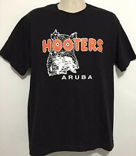 Hooters ARUBA Delightfully Tacky Yet Unrefined Black T Shirt Size Large RARE