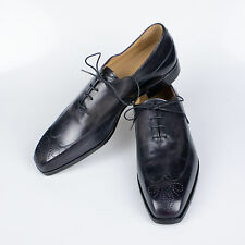 New BERLUTI Black Leather Wing Tip Oxfords Dress Shoes Size 10 $2200