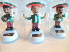 Mariachi Band Solar Powered Set Of 3 Dashboard Bobble Dancing Mexican Fiesta FUN