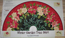 Winter Garden Christmas Tree Skirt Fabric  TWO Panels  #8532P