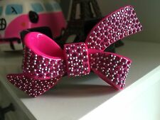 Mimco Limited Edition Barbie Loves Mimco Hot Pink Swarovski BowCuff **Sold Out**