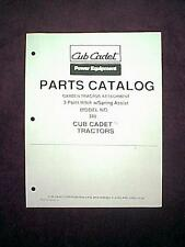CUB CADET GARDEN TRACTOR 3 POINT HITCH MODEL # 388 ATTACHMENT PARTS MANUAL