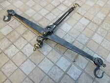 Antique Large Scale 18th Century Colonial Wrought Iron, Brass Balance Blacksmith