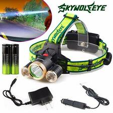 9000Lm 3X XML T6+2R5 LED Headlight Headlamp Flashlight 18650 Torch Taschenlampen