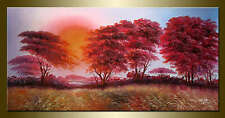Wang ke African Forest hand painted landscape oil painting bestbid_mall F5