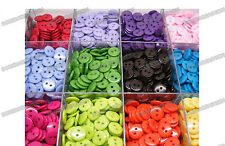 Mixed lots 200pcs 20color Resin Sewing flatback coat shirt Buttons Knitting 11mm