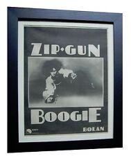 MARC BOLAN+T REX+Zip Gun Boogie+ORIGINAL 1974 POSTER AD+FRAMED+FAST+GLOBAL SHIP