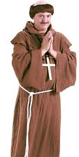 Monk Costume With Wig Mens Adult Friar Tuck Medieval Bald Head - Fast Ship -