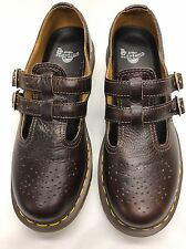 DR. MARTENS WOMEN'S BROWN GRAIN LEATHER 12916 8M USA 39EU 6UK TWO STRAP