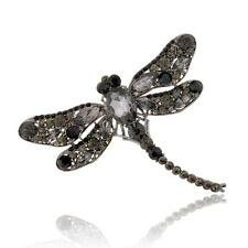 Hot All-match Dragonfly Crystal Wedding Broach Brooch Pin Pendant 7Colors AG