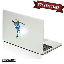 Macbook Air Pro Skin Sticker Decal Metroid Prime Game Zero Suit Samus bn333