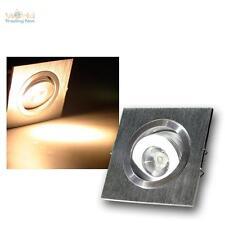 LED-Einbaustrahler 1W 230V, ALU Einbauleuchte Einbau Strahler Deckenleuchte Spot