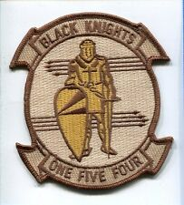 VF-154 BLACK KNIGHTS DESERT GRUMMAN F-14 TOMCAT US Navy Fighter Squadron Patch