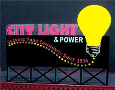 CITY LIGHT & POWER CO. ANIMATED BILLBOARD NEON  SIGN- HO & N SCALES-FLASHES-MORE