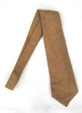 Ralph Lauren TWEED WOOL BEIGE 100% WOOL TIE HAND MADE IN U.S.A