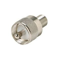Eagle F Female to UHF Male Adapter Coaxial Connector Plug to F-Female Jack Plug