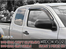 99-06 Chevy Silverado/GMC Sierra 2 PIECE Smoke Window Visor Shade Vent Deflector