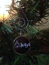 Harry Potter doublesided Ornament Always with Deathly Hallows symbol Black