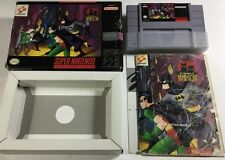 Adventures of Batman & Robin (Super Nintendo, 1994) Snes CIB Complete Rare