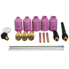 TIG Gas Lens Kit 2% Lanthanate Tungsten Fit WP-17 WP-18 WP26 Welding Torch 18pcs
