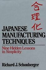 Japanese Manufacturing Techniques: Nine Hidden Lessons in Simplicity Schonberge