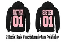 Brother Sister Hoodie Pullover 2 Stück Partner Look Hipster Relationship XS -5XL