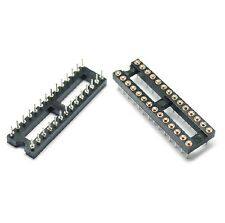 5pcs 28Pin DIP28 SIP Round IC Sockets Adaptor Solder Type gold plated machined