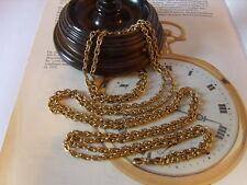 SUPERB VICTORIAN LADIES LONG 12CT GOLD/F GUARD/WATCH CHAIN & DOG CLIP. C~1890's.