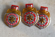 Lot of 3 Vintage 1940s Tin Children Official Sheriff Clicker Badges