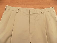 Jos. A. Bank Mens Stays Cool Casual Pants Sz W 38 X 29 L Khaki Slacks Pleated