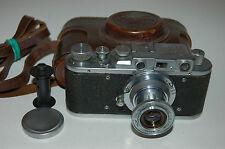 Zorki 1 Type C Vintage Soviet Rangefinder Camera With Case & Cap 1952. No.242307