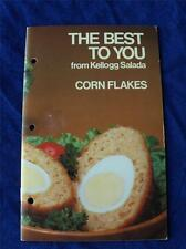 THE BEST TO YOU RECIPE COOKBOOK KELLOGG SALADA CORN FLAKES CANADA ADVERTISING