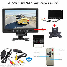 "Wireless IR Rear View Back up Camera Night Vision System+9"" Monitor for RV Truck"