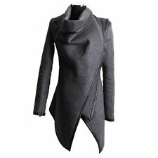 Women High Neck Winter Warm Trench Coats Long Wool Jacket Outwear Parka Cardigan