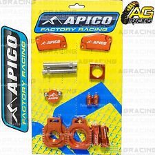 Apico Bling Pack Orange Blocks Caps Plugs Nuts Clamp Covers For KTM SX 85 2015