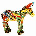 Mosaic Donkey Figurine - Multi Coloured - Hand Painted - Barcino