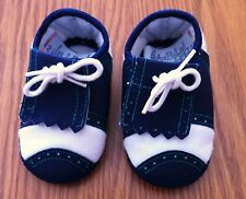 VINTAGE GYMBOREE BABY'S FIRST GOLF CRIB SHOES BOYS SIZE 02 BLUE HARD TO FIND